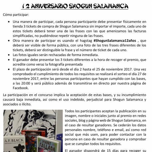 12 ANIVERSARIO SHOGUN SALAMANCA