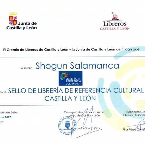 Sello librería de referencia cultural para Shogun Salamanca