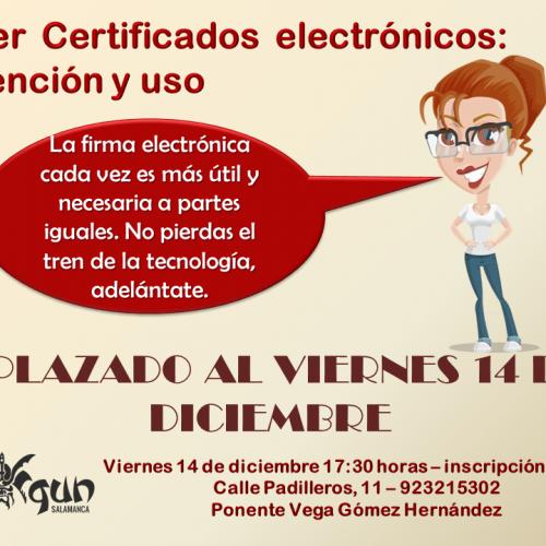 Taller sobre certificados electrónicos
