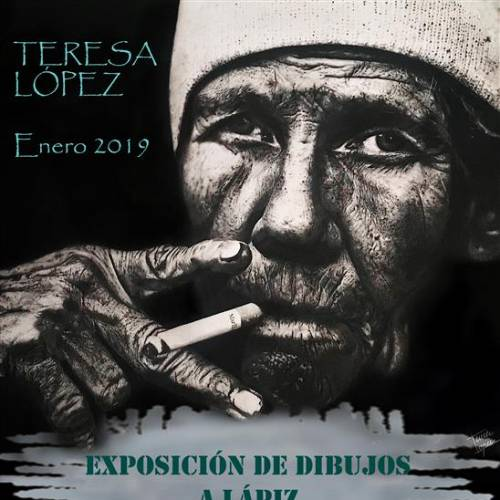 Exposición y venta de dibujos hiperrealistas a lápiz de Teresa López