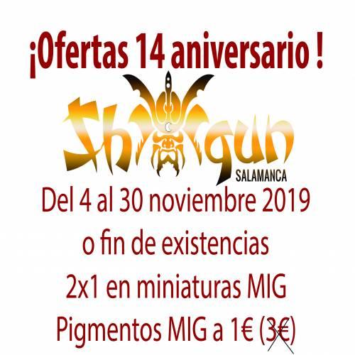 Ofertas 14 aniversario Shogun Salamanca